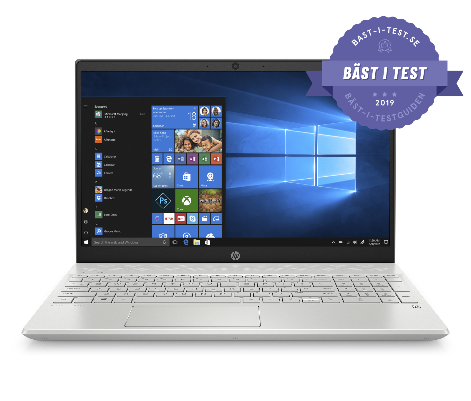 Bästa laptop 2019 - HP Pavilion 15-cw1008no/15-cw1009no